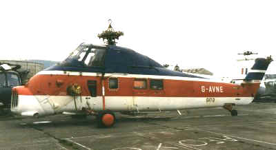 Wessex 60, G-AVNE, at Weston in 1987
