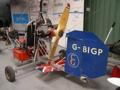 Bensen B-8M, G-BIGP, goes on display at The Helicopter Museum