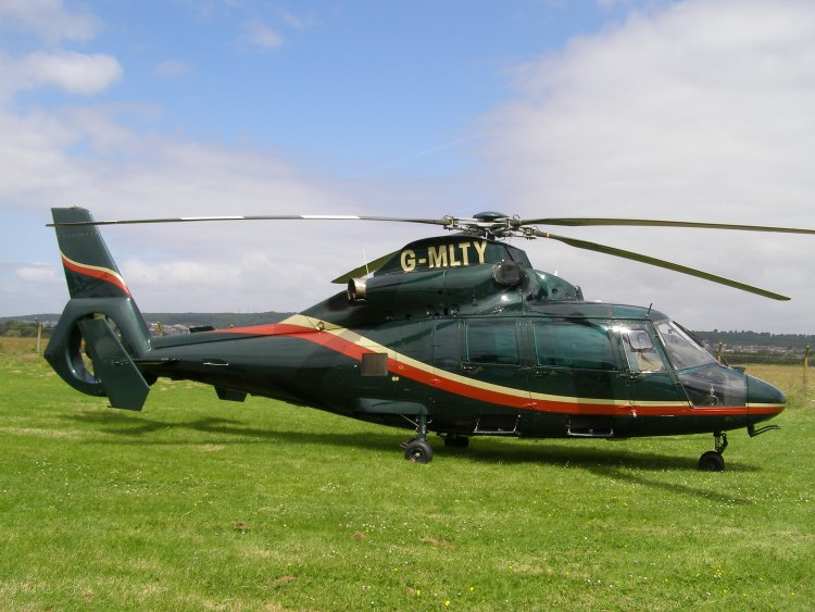 AS365N-2, G-MLTY, at The Helicopter Museum
