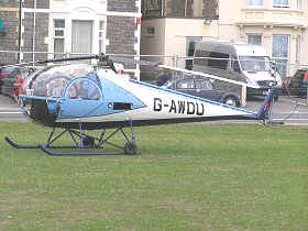 Brantly B.2B, G-AWDU, at Weston Helidays 2010