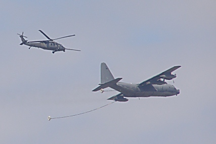Sikorsky HH-60G 'Pave Hawk' and Lockheed MC130P tanker