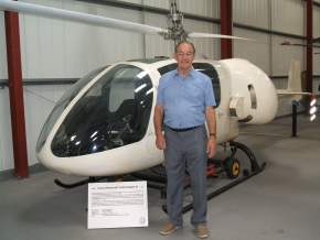 Peter Barton with Jacob Shapiro's Cierva Grasshopper