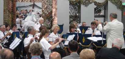 The RAFA Concert Band perform at The Helicopter Museum