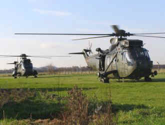 Sea Kings HAS Mk6(CR) (left) and HC Mk4 (right)
