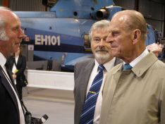 The Duke of Edinburgh chatted with many of the Museum Volunteers