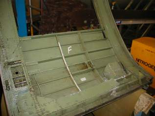Restoration of  XG452 Cabin Door Starts